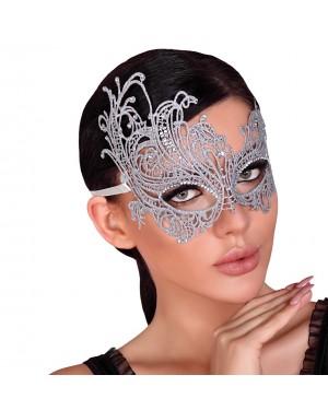 Maska čipkasta Livco Silver, srebrna