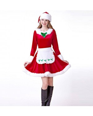 Božični kostum Mrs. Santa Claus, rdeč