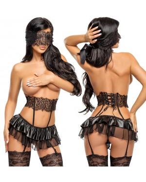 Erotično perilo, korzet BeautyNight Berenice, črn