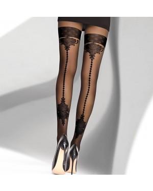 Hlačne nogavice Livco Eselda 20DEN, črne
