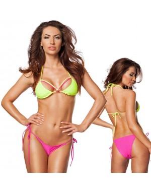 Kopalke bikini Neon Hottie, zelo/pink