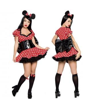 Kostum miška Geisha's Mouse, rdeč