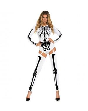 Pustni kostum okostnjak Bone Skeleton, bel