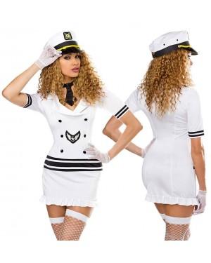 Kostum pilotka White Pilot, bel