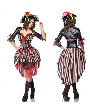 Kostum piratka Sexy Pirate, črn