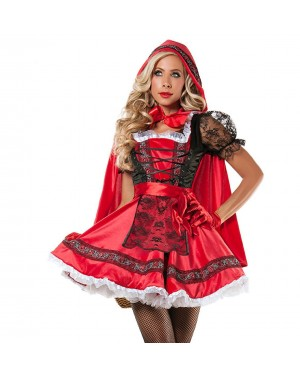 Pustni kostum rdeča kapica Little Red, rdeč