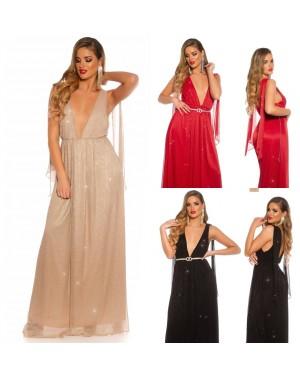 Svečana obleka dolga Detra, več barv