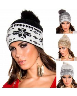 Kapa pletena Maribel, več barv