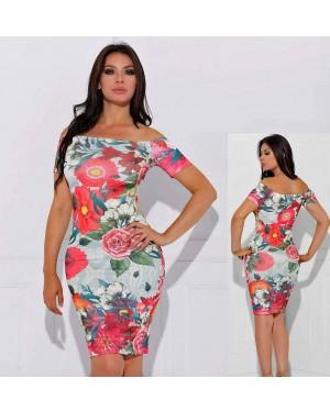Poletna obleka Shaina, večbarvna