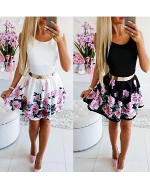Poletna obleka z rožicami Vanessa, več barv