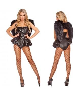 Pustni kostumi angel Alluring Angel, črn
