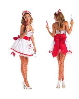 Pustni kostum medicinska sestra Tempress Nurse, bela
