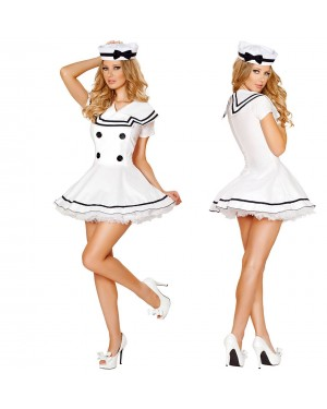 Pustni kostum mornarka White Sailor, bel