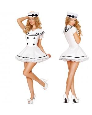 Pustni kostum mornarka White Sailor, bel