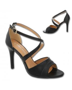 Sandali s peto 8446, črni