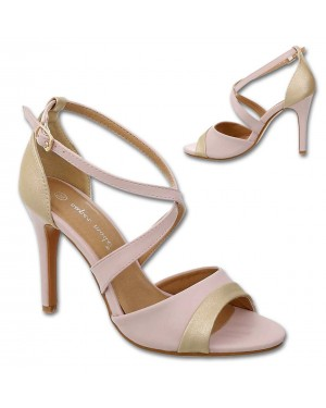 Sandali s peto 8446, roza