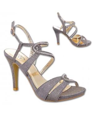 Sandali s peto in platormo 52, zlati
