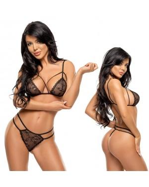 Spodnje perilo, komplet BeautyNight Aryana, črn