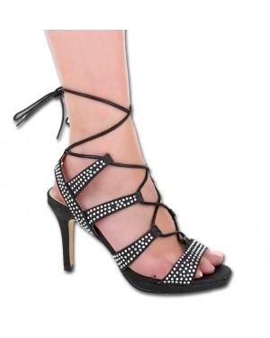 Visoke pete, sandali 139, črni