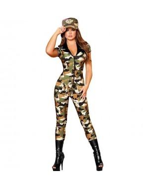 Kostum vojakinja, kombinezon Army Cutie, zeleno/rjav