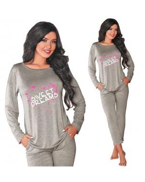 Pižama Livco 106, siva