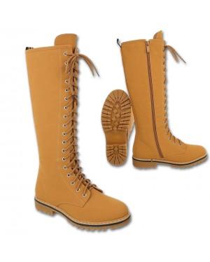 Škornji do kolena 82, camel