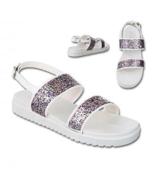 Sandali, nizki 18, srebrni