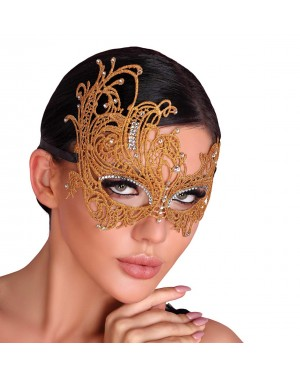 Maska čipkasta Livco Golden, zlata