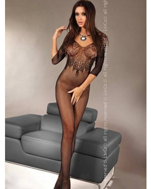 Bodystocking Livco Josslyn, črn