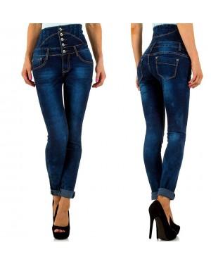 Jeans hlače, povišan pas Novia, modre