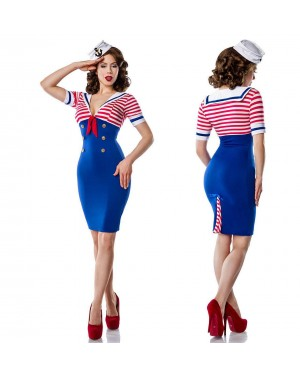 Kostum mornarka Pin Up Marine, moder