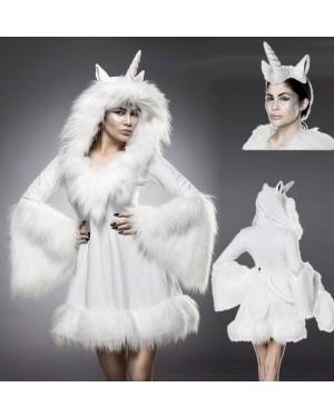 Kostum Samorog oblekica, bel