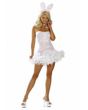 Kostum zajčica White Bunny, bela