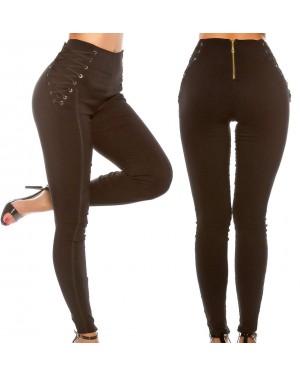Legice, elastične hlače Allie, črne