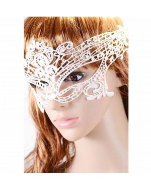 Maska čipkasta M3, bela