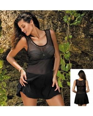Tunika, oblekica za plažo Marko Ines Nero, črna