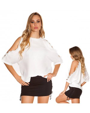 Poletna majčka Liane, bela