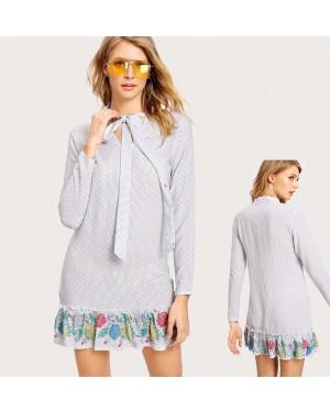 Poletna oblekica Evie, svetlo siva