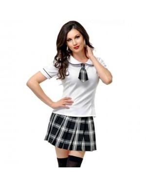 Kostum šolarka Preaty School Girl, črno/bel