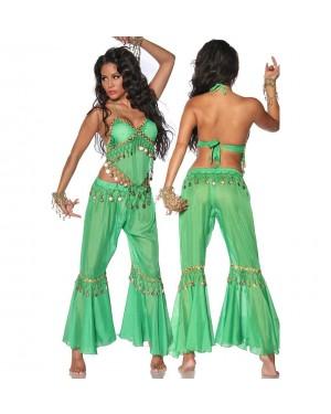 Kostum trebušne plesalke, zelen