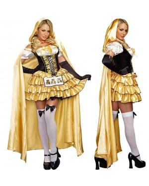 Pustni kostum zlatolaska Goldilocks, zlata