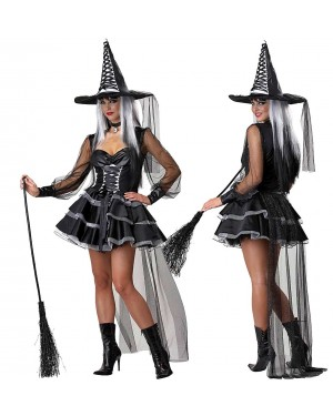 Kostum čarovnica Mystic Witch, črn