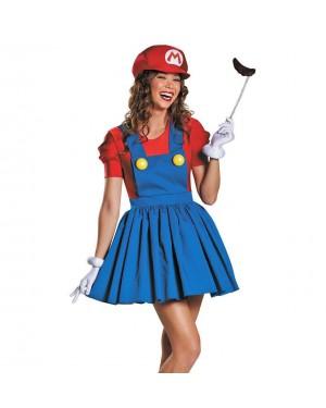 Kostum Super Mario Girl, rdeč