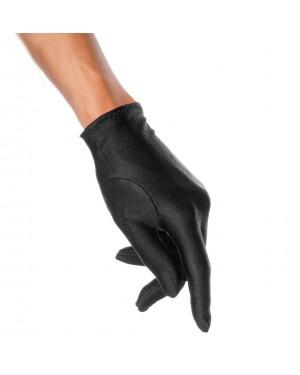 Rokavice satenaste kratke, črne