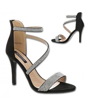 Sandali s peto C28, črni