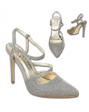Sandali visoka peta 18, zlati