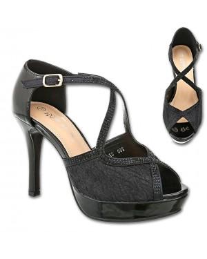 Sandali s peto, platform 260, črni