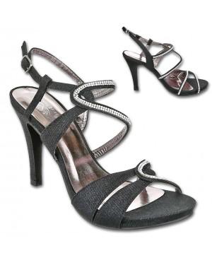 Sandali s peto in platormo 52, črni