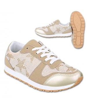 Superge, sneakers s podloženo peto S37, zlate
