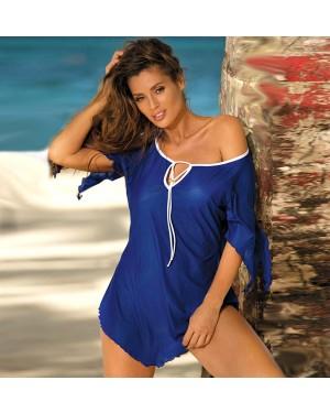 Tunika za plažo Marko Lily Mykonos, modra